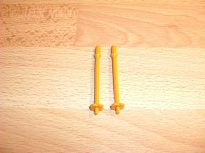 Bâton de ski orange