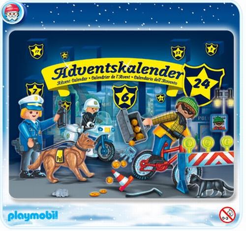 Playmobil Calendrier de l'avent Policiers 4157