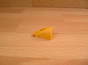Col fourrure jaune