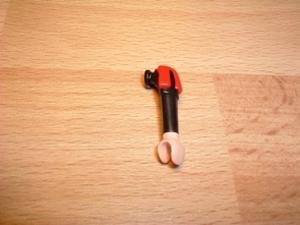 Bras noir épaule rouge et noire Neuf