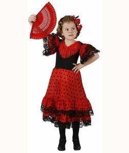 Deguisement costume Danseuse Flamenco à pois 3-4 ans