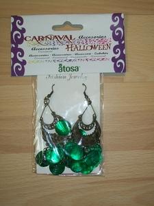 Boucles d'oreille vert