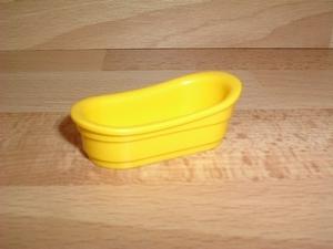 Baignoire jaune pour table à langer