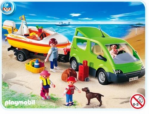 Playmobil Voiture familiale avec remorque porte bateaux 4144