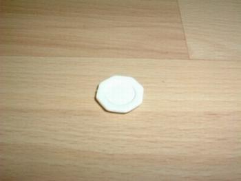 Assiette blanche octogonale