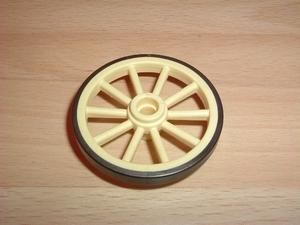 Roue crème 4,5 cm