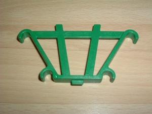 Barrière arrière vert pour charrette de ferme