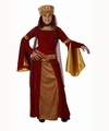 Deguisement costume Dame médiévale rouge 5-6 ans