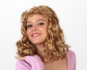 Perruque blonde frange bouclée