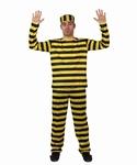 Deguisement costume Prisonnier jaune, bagnard dalton  XL