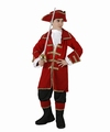 Deguisement costume Pirate capitaine rouge 10-12 ans