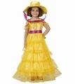 Deguisement costume Dame du Sud jaune 3-4