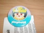 Badge Playmobil Reine neuf