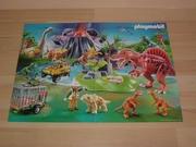 Poster playmobil  Dinosaures