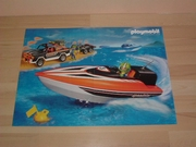 Poster playmobil  Bateau de course