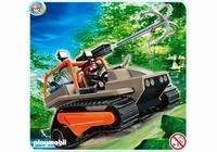 Playmobil Véhicule à chenille et brigand 4846