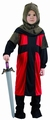 Deguisement costume Chevalier médiéval rouge noir 3-4 ans