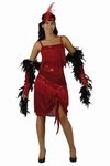 Deguisement costume Danseuse Charleston rouge