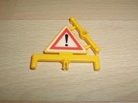 Panneau triangle jaune danger neuf