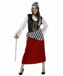 Deguisement costume Pirate jupe rouge