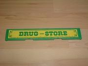 Enseigne Drug store