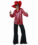 Deguisement costume Disco homme rouge  XL