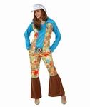 Deguisement costume Hippie femme fleurs  XL