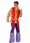 Deguisement costume Hippie homme purple