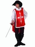 Deguisement costume Mousquetaire rouge  XL