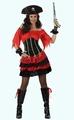 Deguisement costume Pirate jupe volants rouge noir  XL