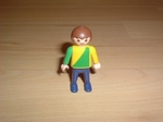 Enfant polo vert et jaune