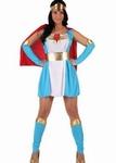 Deguisement costume Super Girl bleu héroïne
