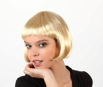 Perruque blonde platine