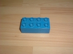 Brique 8 picots bleu