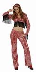 Deguisement costume Disco femme franges  XL