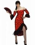 Deguisement costume Danseuse flamenco espagnole rouge pois