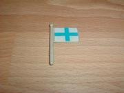 Petit drapeau croix et carré bleu