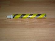 Cotillons  tube lance boules jaune neuf
