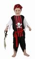 Deguisement costume Pirate tête de mort 7-9 ans