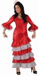 Deguisement costume Danseuse flamenco espagnole rouge XL
