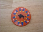 Bouclier indien bison
