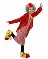 Deguisement costume Clown rouge et blanc 10-12 ans