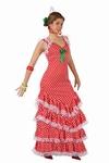 Deguisement costume Danseuse flamenco espagnole pois XL