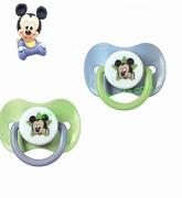2 sucettes transparentes silicone Disney