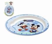 Assiette plate micro onde Disney bleu