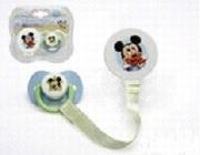 Sucette avec attache Disney bleu
