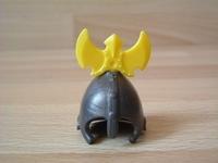 Casque chevalier coiffe jaune Neuf