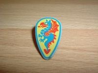 Bouclier dragon bleu