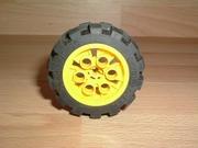Roue jaune Ø 4,8 cm largeur 2,0 cm