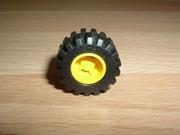 Roue jaune Ø 2,1 cm largeur 1,2 cm